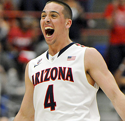 No. 3 Arizona is feeling good after clinching the Pac-12 regular-season title with a victory over Stanford.  (USATSI)