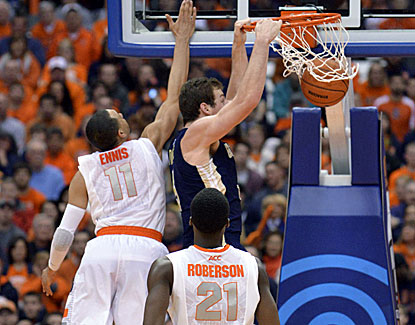 Georgia Tech's Daniel Miller slams two of his 15 points during the Yellow Jackets' stunning win over No. 7 Syracuse. (USATSI)