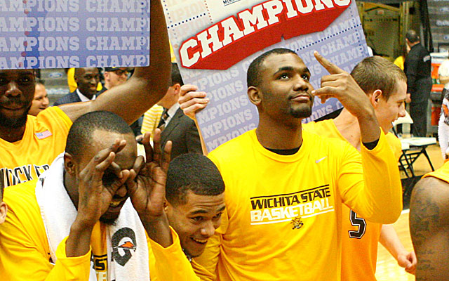 Wichita State players celebrate -- does it matter how they got to 31-0? (USATSI)