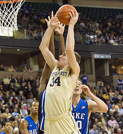 Tyler Cavanaugh goes up for two of his career-high 20 points during Wake Forest's win over No. 4 Duke. (USATSI)