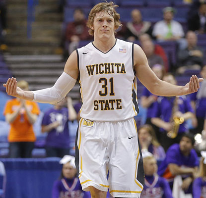 Ron Baker, tied for the team high with 17 points vs. Evansville, appears to be ready for Wichita State's next test.  (Getty Images)