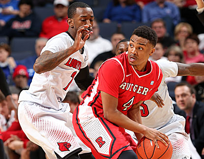 Myles Mack and Rutgers don't stand a chance against the No. 5 Cardinals at the American tournament.   (Getty Images)