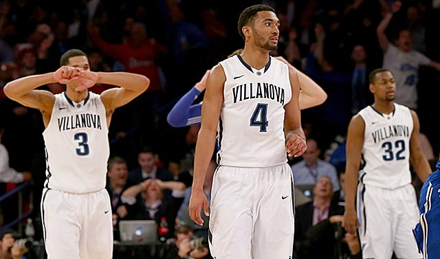 Villanova makes an unexpectedly early exit from the Big East tournament and the top line in the bracket.