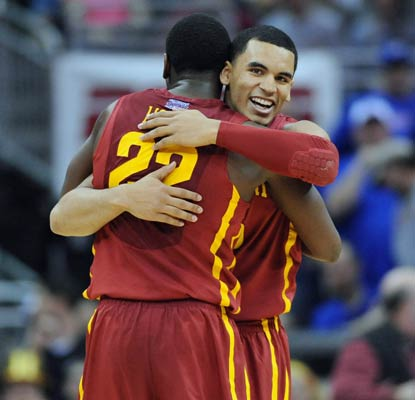 Iowa State is in the Big 12 tournament final for the first time since 2000 after beating top seed Kansas.  (USATSI)