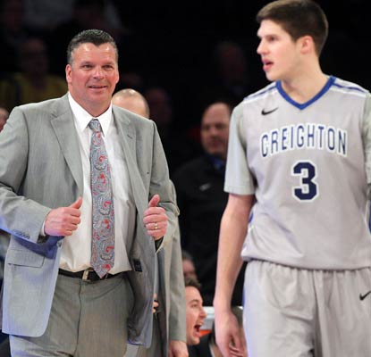 Coach Greg McDermott and son Doug have Creighton in the title game in the Bluejays' first Big East season.  (USATSI)