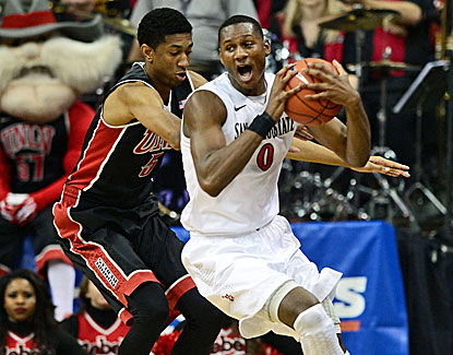 Skylar Spencer and San Diego State will play for the Mountain West title after beating UNLV in the semis. (USATSI)