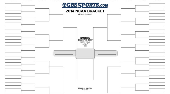 Print your 2014 NCAA Tournament bracket