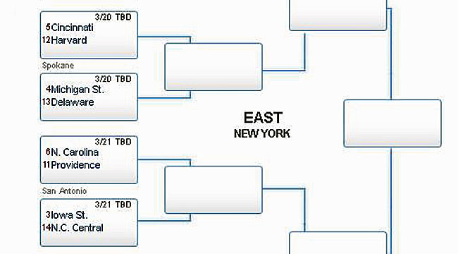 Fill out your 2014 NCAA Tournament bracket