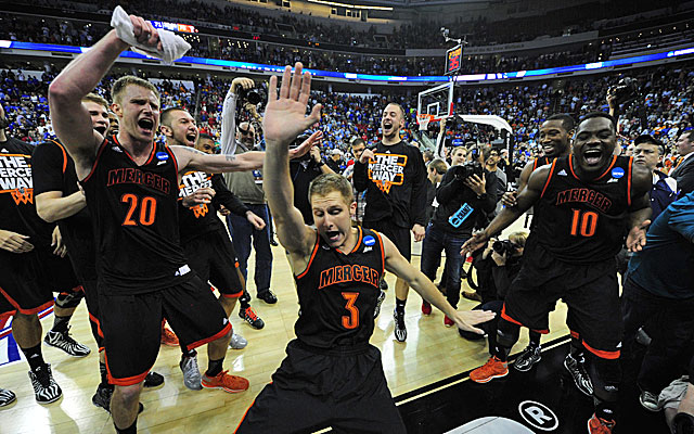 Mercer's players are probably still dancing after pulling the upset against Duke. (USATSI)
