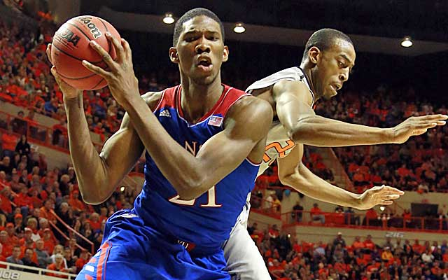 Embiid is likely to go in the first two picks of the draf.  (USATSI)