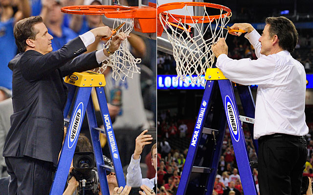 Success? John Calipari won his first national title in 2012; Rick Pitino got his second last spring. (USATSI)