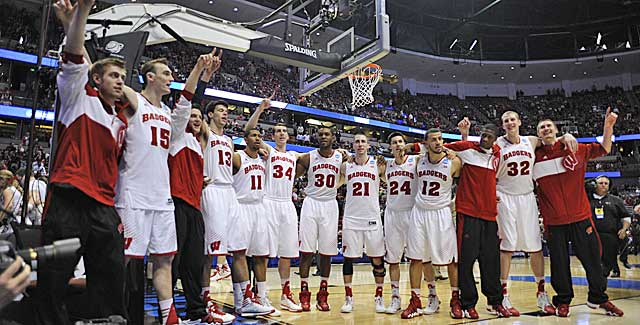 The Badgers hope to celebrate a Final Four berth Saturday at Anaheim. (USATSI)