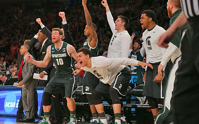 Michigan State is right where we all thought it would be -- on the brink of the Final Four. (USATSI)