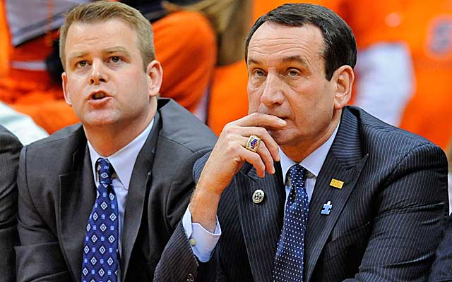 Steve Wojciechowski (left) is yet another branch on the Coach K tree, but will he succeed? (USATSI)