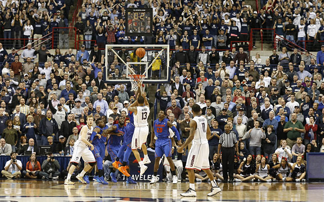 Shabazz Napier's second try at the winner went through in UConn's home victory over Florida. (USATSI)