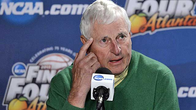 Bob Knight is OK after a run-in with a large bovine. (USATSI)