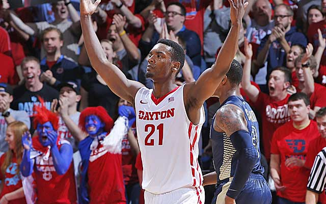 Dyshawn Pierre fires up the masses during a win over Georgia Tech. (Getty Images)
