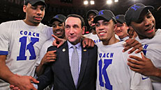 Coach K wins 1,000th