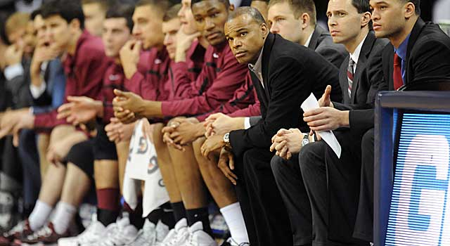 Tommy Amaker still needs to beat Yale, but has the Crimson playing solid D. (Getty Images)