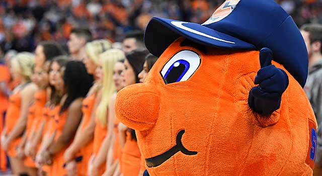 Syracuse S Otto Held Out Of Mascot Game After Team S Ban Cbssports Com