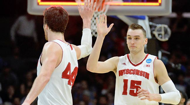 No. 1 Wisconsin survives UNC, on to Elite 8