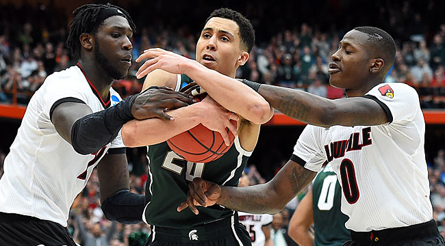 Michigan St. beats L'ville in OT to reach Final Four