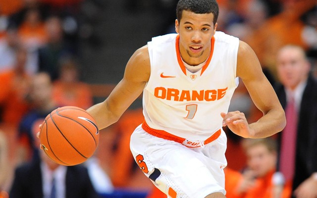 Syracuse guard Michael-Carter Williams has been one of this draft class' biggest climbers so far. (US Presswire)