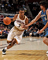 Ramon Sessions gets a shot for the punchless Cavaliers. (Getty Images)