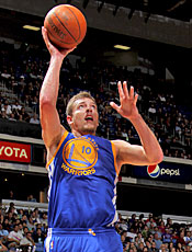 David Lee brings a growing offensive game and tenacious rebounding. (Getty Images)