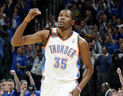 Kevin Durant starts the season on a high note with 30 points in a win against the Bulls.  (Getty Images)