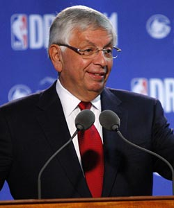 Commish David Stern plays coy, but his deputy commissioner Adam Silver opens up a little more. (US Presswire)