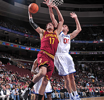 Anderson Varejao notches Cleveland's only double-double, with 23 points and 12 rebounds. (Getty Images)