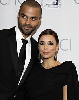 Tony Parker and actress Eva Longoria were married in France in July, 2007. (AP)