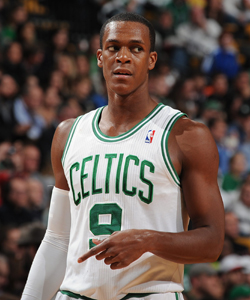 Rajon Rondo is averaging 14.2 assists per game. (Getty Images)