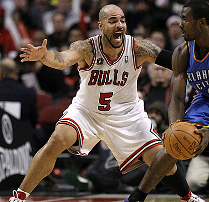 Carlos Boozer is making up for lost time, hitting for 29 points in the Bulls' win Monday. (AP)