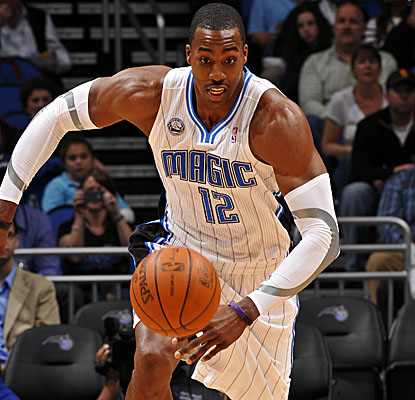 Dwight Howard registers 26 points and 20 boards, but even Superman can't lift the undermanned Magic all by himself.  (Getty Images)