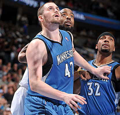 Once again, Kevin Love (42) puts up ridiculous numbers. Once again, the Timberwolves come up short.  (Getty Images)