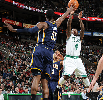 Again starting for the injured Rajon Rondo, Nate Robinson pitches in for 18 points Sunday. (Getty Images)