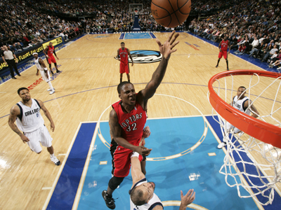 Rookie Ed Davis leads the way for the Raptors by scoring a career-high 17 points. (Getty Images)