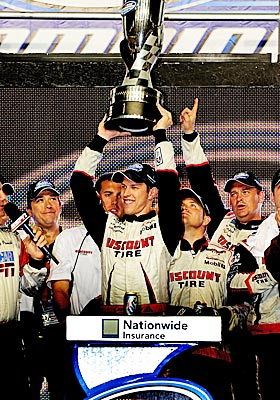 NASCAR's Nationwide Series, won by Brad Keselowski last season, plans to eliminate Sprint Cup regulars from title contention. (Getty Images)