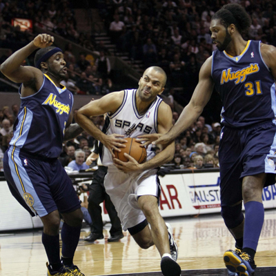 Tony Parker goes 11 of 15 from the floor and adds four assists while leading the Spurs to victory over the Nuggets.  (US Presswire)
