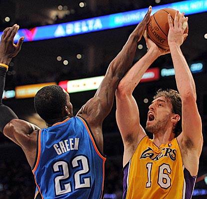 Pau Gasol has 21 points and seven boards and the Lakers get their eighth win in nine games. (Getty Images)