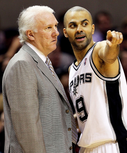 Gregg Popovich has Tony Parker and the Spurs sitting atop the NBA. (Getty Images)