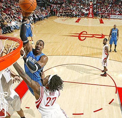 Dwight Howard and the four other Magic starters all shoot more than 50 percent and reach double figures. (Getty Images)