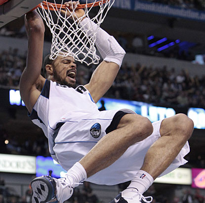 Tyson Chandler is all hyped up after matching his season-high scoring with 21 points. He also has 15 rebounds. (AP)