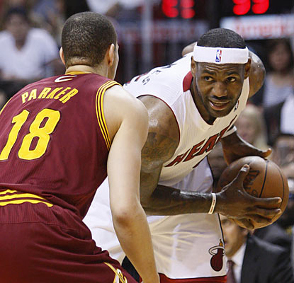 LeBron says before the game he wishes the Cavs the best. He only helps make things worse as Cleveland reaches 40 losses. (AP)