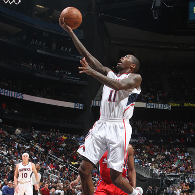 Jamal Crawford scores a game-high 34 points to lead the Hawks over the Clippers.  (Getty Images)
