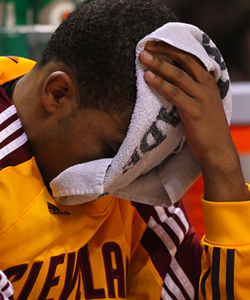 Cleveland has lost 34 of its last 35 games, another NBA record. (Getty Images)