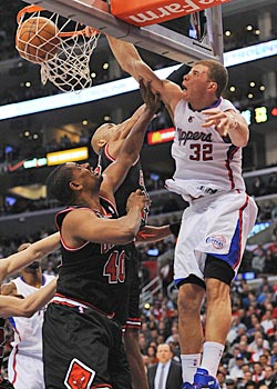 Blake Griffin takes no prisoners, dunking on anybody and everybody. (US Presswire)