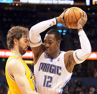 Dwight Howard (31 points, 13 boards) helps the Magic snap a string of eight straight losses to teams with winning marks. (US Presswire)